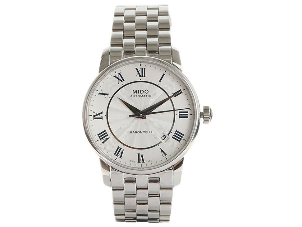8b7419dc50b7 Mido Baroncelli Reloj para Caballero Color Acero